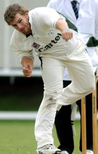 Aaron Finch bowling for Clifton Alliance CC