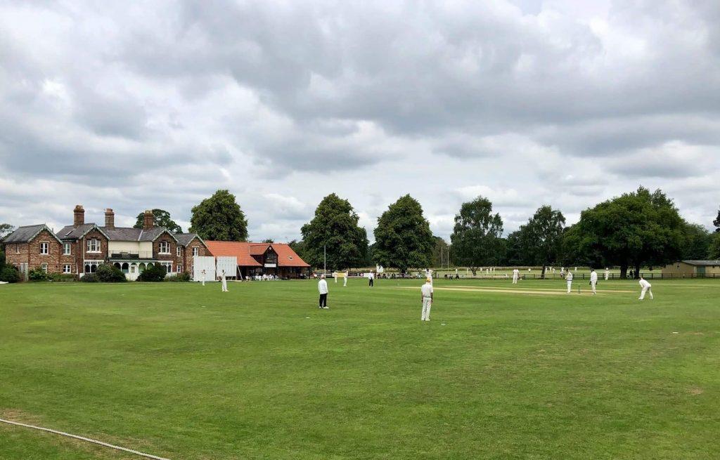 A cricket match at the Alliance Cricket Ground, Clifton Park, York